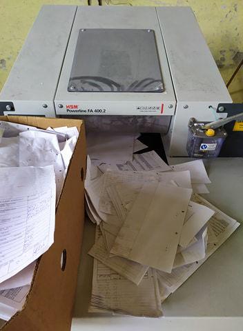 Niszczenie dokumentów belownica